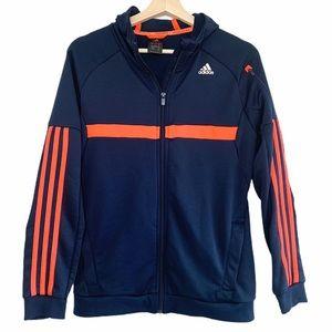 Adidas Climalite Zip Hoodie Jacket in Navy